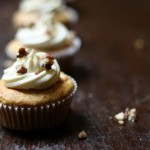 honey and sour cream cupcakes with whisky buttercream