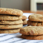 hazelnut butter & buckwheat flour chocolate chip cookies