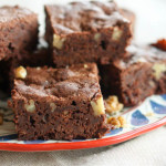 olive oil and walnut brownies