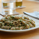 pasta with lemon, parsley and parmesan