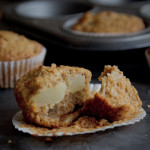 spiced vanilla and pear muffins