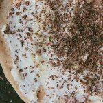 chocolate, ricotta and honey pizza