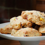 nectarine and almond scones