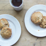 roasted pear and hazelnut brown butter scones