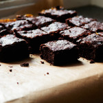 flourless salted caramel brownies {gluten free}