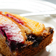nectarine, blueberry and buckwheat cake {gluten free}