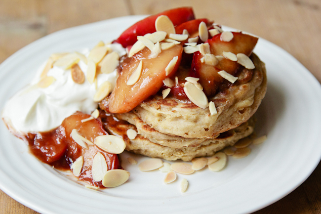London Bakes Fluffy Buckwheat Pancakes With Caramelised Ginger Peaches Gluten Free