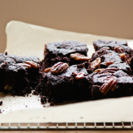 salted pecan and bourbon brownies {gluten free}