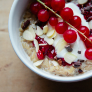 brown rice porridge with redcurrant chia jam {gluten free}