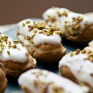 lemon and pistachio eclairs {gluten free}